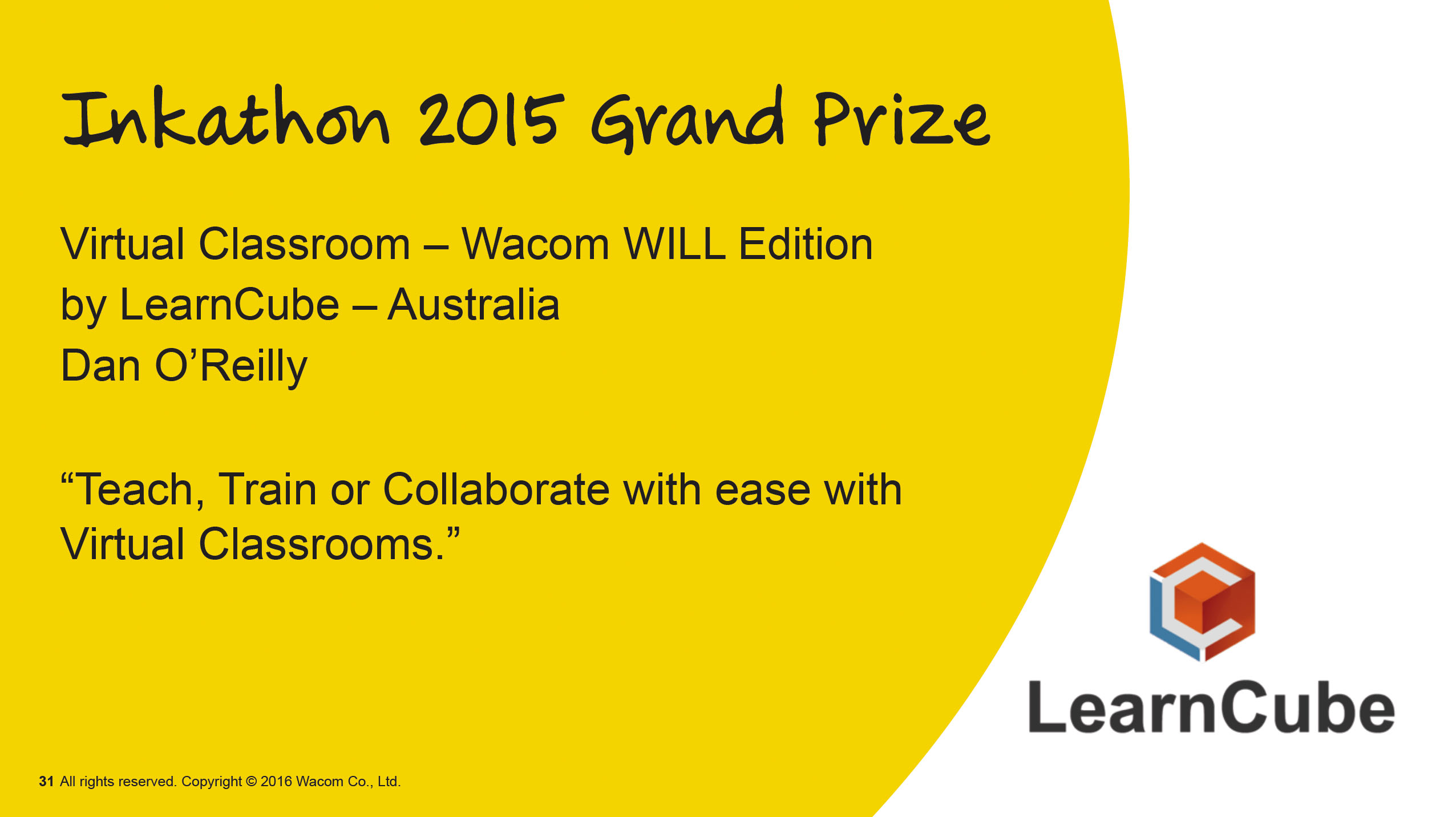 LearnCube's Virtual Classroom Wins First Prize in International Competition}