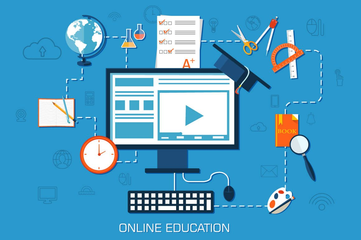 Virtual classroom for teaching online