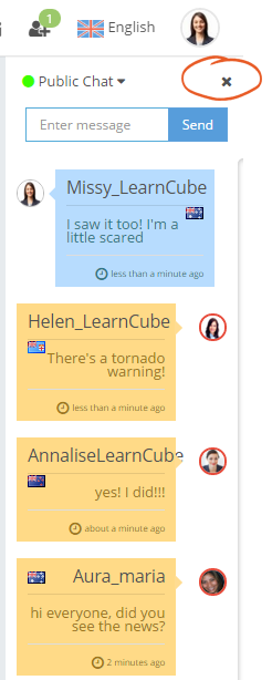 learncube-hide chat