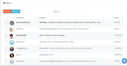 learncube-sent messages page