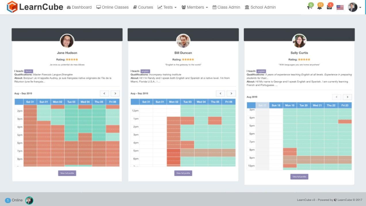 Online School Software (Admin + Scheduling + LMS + Online