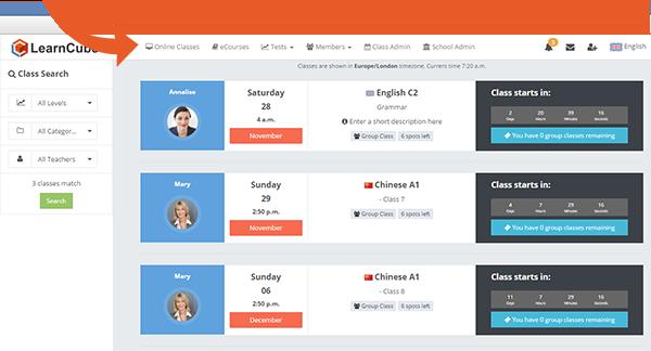 learncube-onlineclassespage