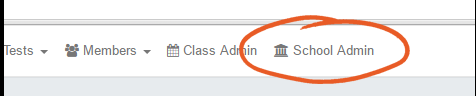school admin button