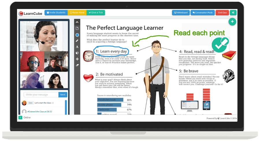 learn cube Virtual Classroom software