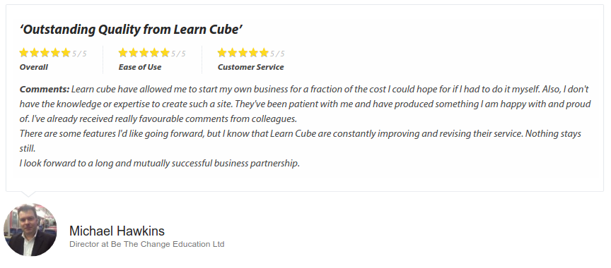 LearnCube Review, Customer Testimonial