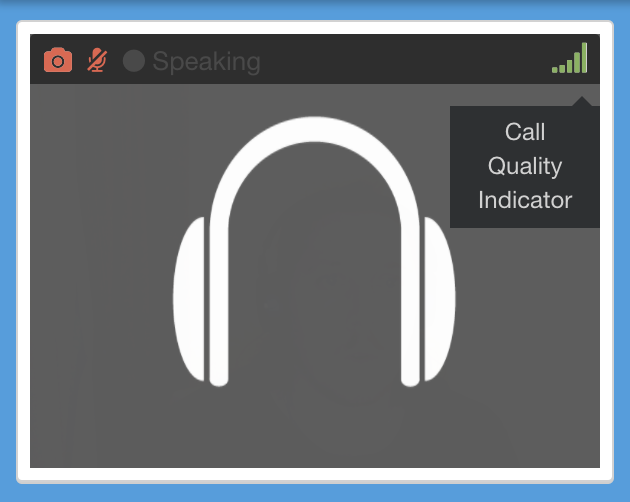 Webrtc quality of call indicator